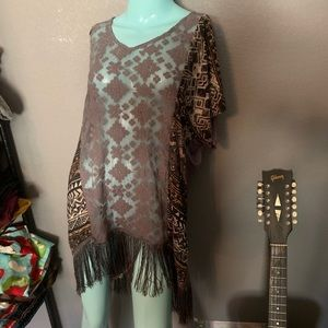 Anthropologie Hem and Thread High Low boho tunic